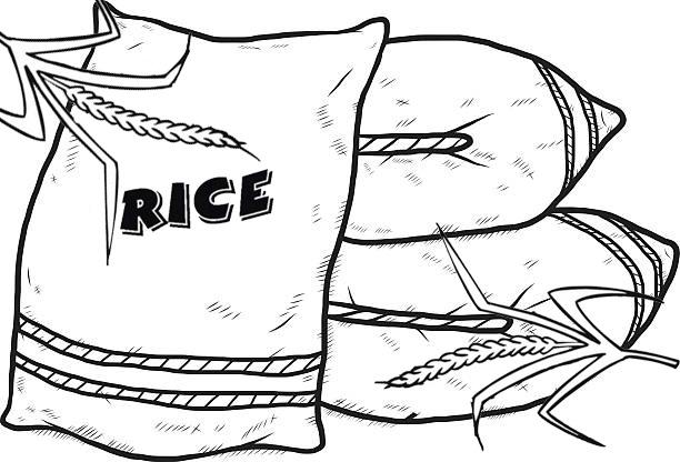 best sack of rice coloring page