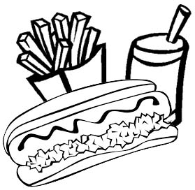 delicious hotdog coloring page