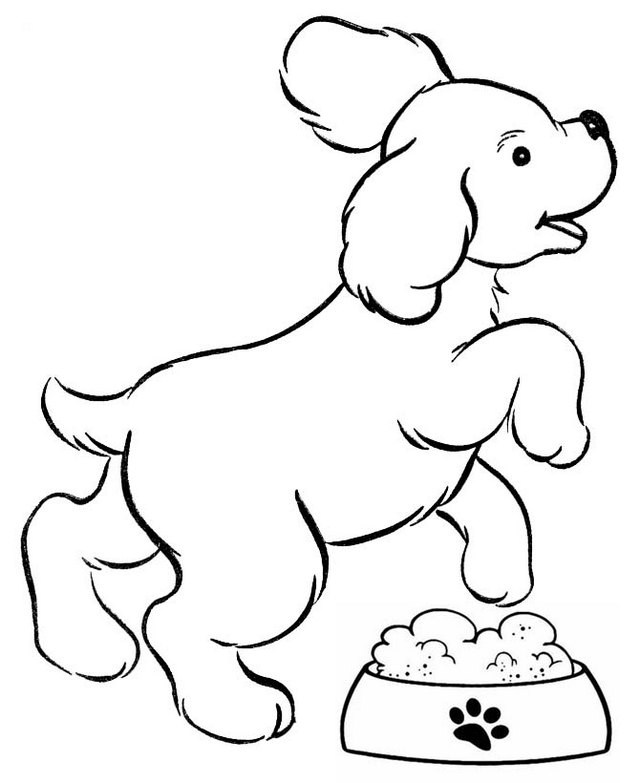 dog jumping over the food coloring page