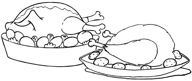easy oven fried chicken coloring page for kids