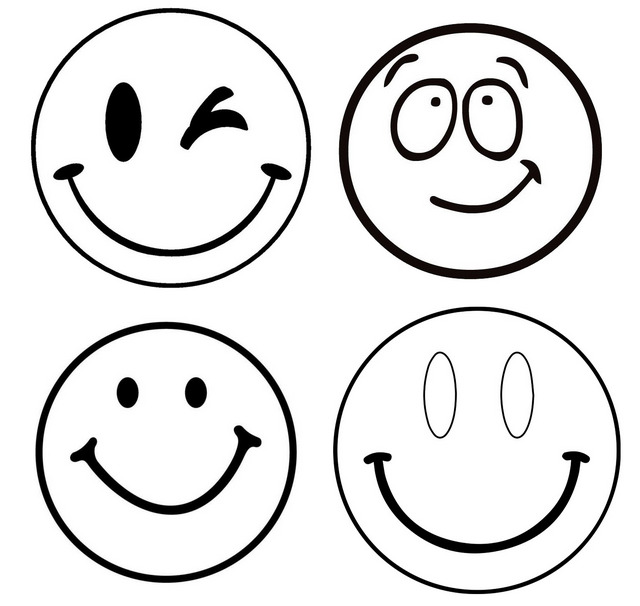 facial expressions coloring pages of cirlce