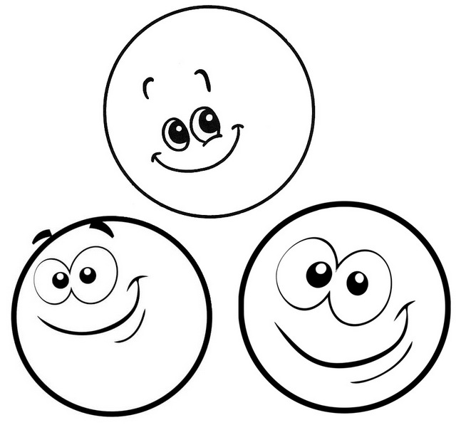 fun face emoticons coloring pages of cirle