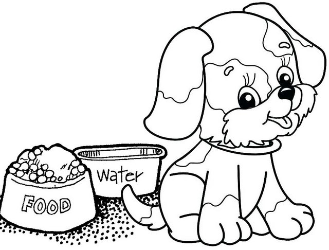 fun little dog cartoon coloring page