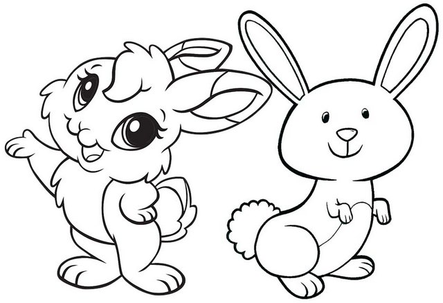 fun rabbit cartoon smiling coloring page