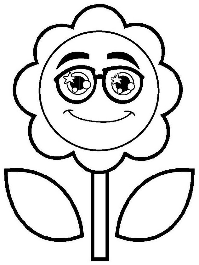 happy and smiling sunflower face coloring page of circle