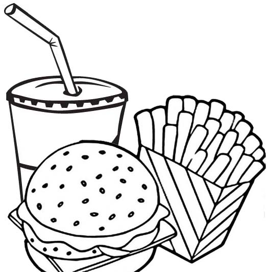 mouthwatering french fries coloring pages