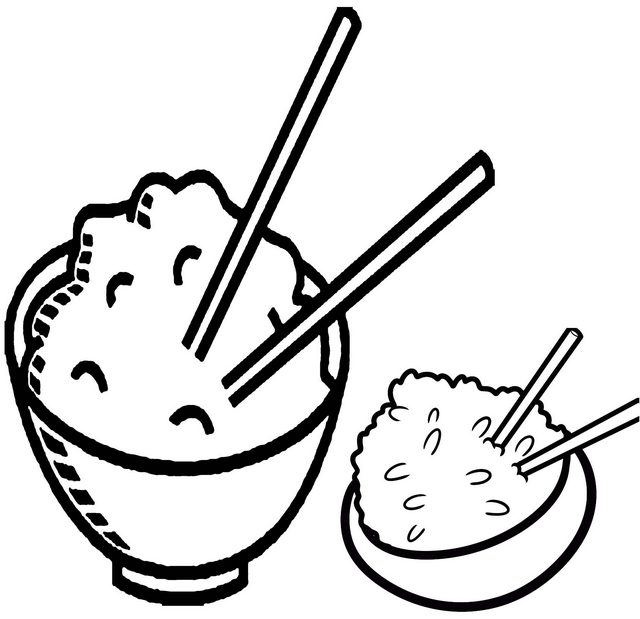 rice ready to eat coloring page