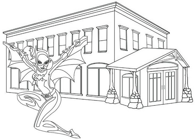 Batgirl Ready to Fighting Coloring Page