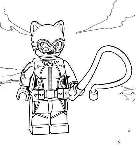 Best Lego Catwoman Coloring Page