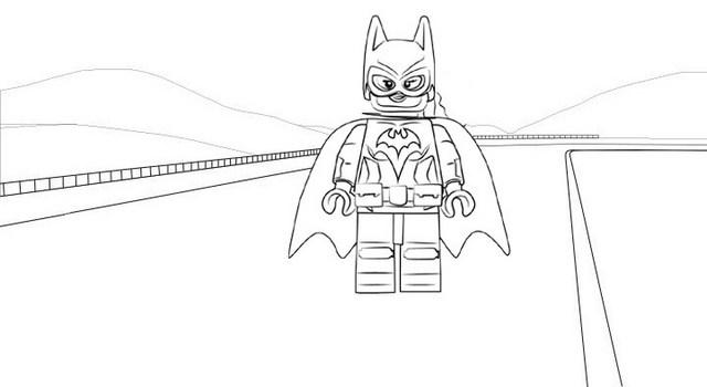 Lego Batgirl Coloring Page of LEGO Super Heroes DC Universe Batman