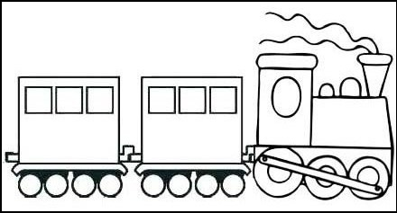 Locomotive Drawing Picture for Kids