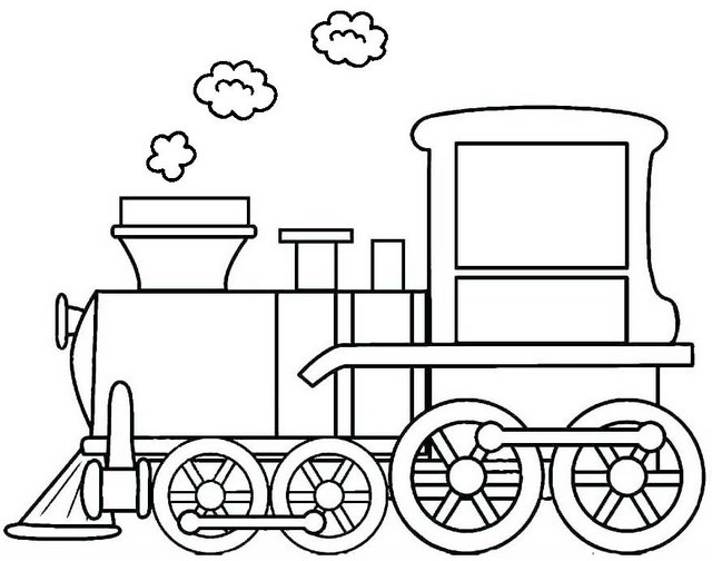 Old Locomotive Coloring Page