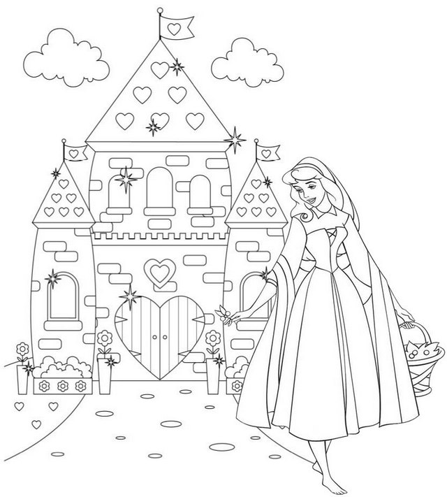 Wonderful Princess Aurora Disney Coloring Page of Sleeping Beauty