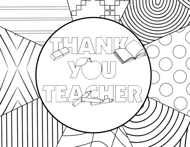 pretty teacher appreciation ideas coloring page