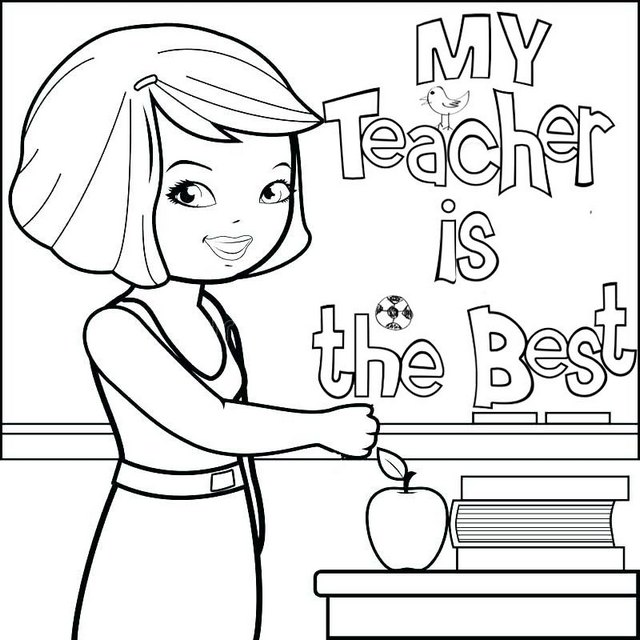 teacher appreciation female coloring page