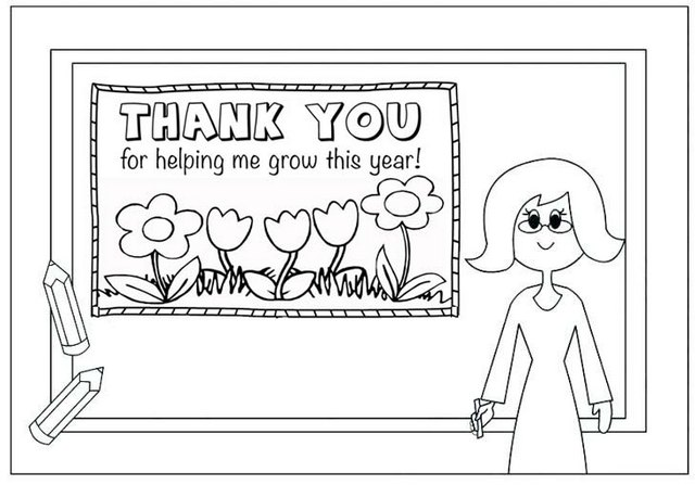 teacher appreciation quote coloring page