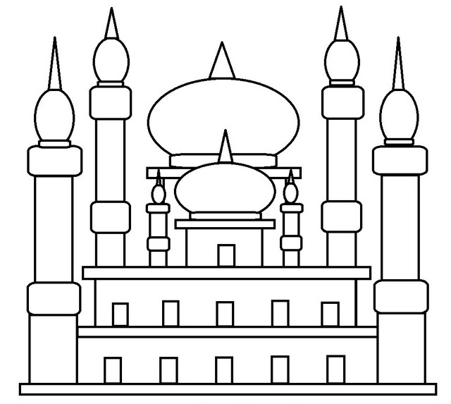 Great Mosque Coloring Page