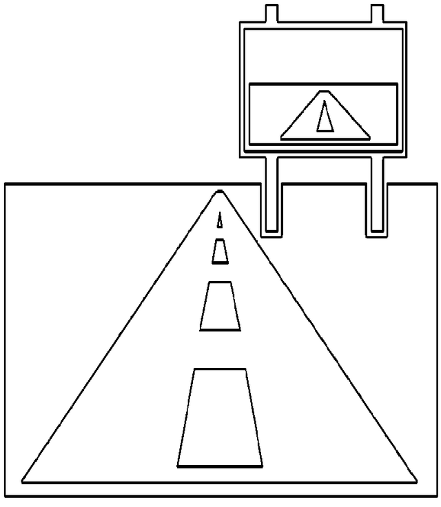 highway sign coloring page of road