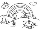 Peaceful and Beautiful Village Coloring Pages