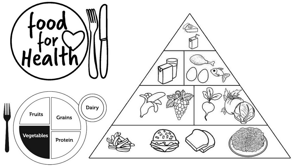 Food for Health Myplate and Pyramid Food Graphic Page
