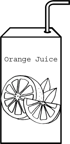 Orange Juice Box ready to drink coloring page