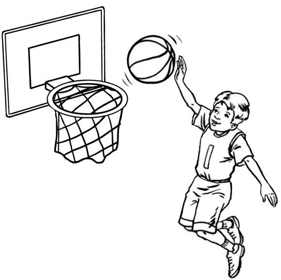 basketball sport coloring page