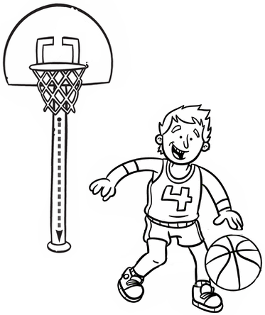 fun basketball coloring page for kid