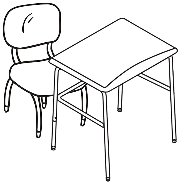 Best Chair and Table Coloring Page